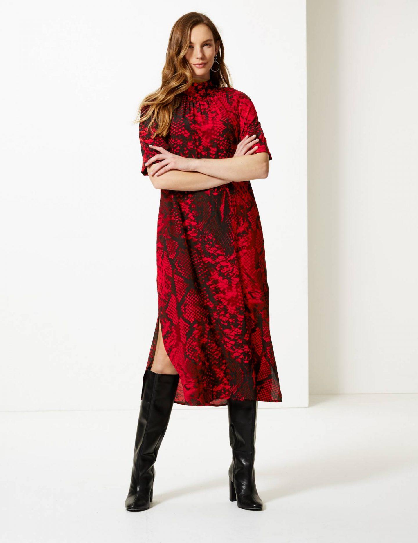 M&S winter midi dress
