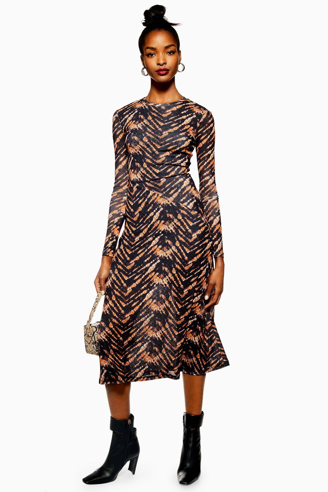 topshop winter midi dress